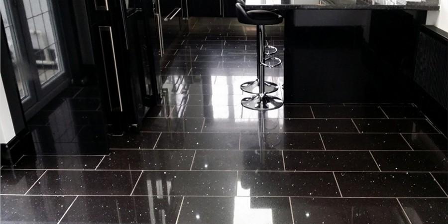 Black Quartz Floor Tiles