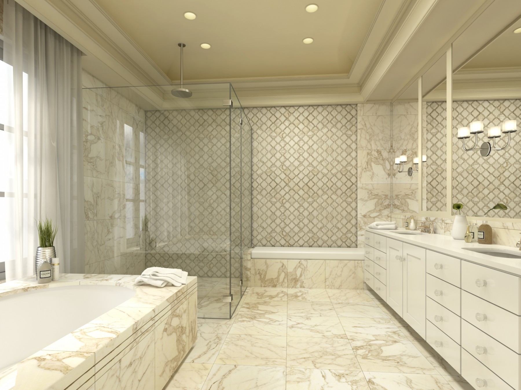 5 Beautiful Marble Colours for Wet Rooms - SurfaceCo