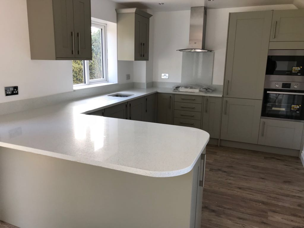 Quartz Worktop Template/Supply and Installation for Mrs D in Slough ...