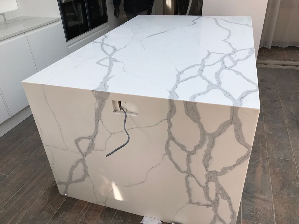 Quartz Worktop Template/Supply and Installation for Mrs A in London