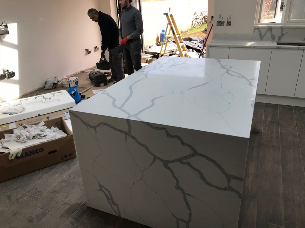 Quartz Worktop Template/Supply and Installation for Mrs A in London ...